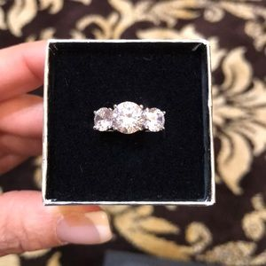 Jewelry - cubic zirconia engagement ring.